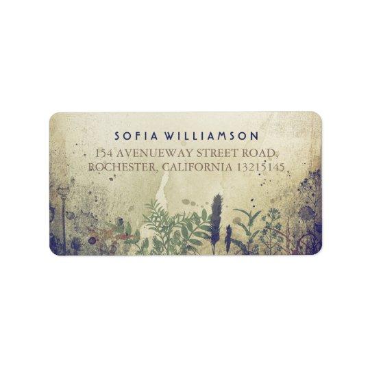 Rustikale Waldmarine-Adressen-Etiketten Adressaufkleber