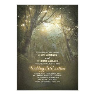 Rustikale Waldschnur beleuchtet Hochzeit einladen 12,7 X 17,8 Cm Einladungskarte