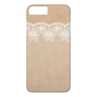 Rustikale Wedding Kraftpapier- und Spitze-Braut iPhone 8 Plus/7 Plus Hülle