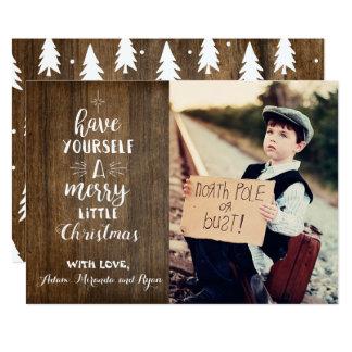 Rustikale Weihnachtskarte mit Foto Karte