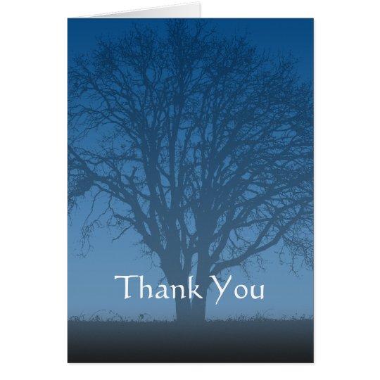 Rustikaler blauer Baum des Lebens danken Ihnen Mitteilungskarte