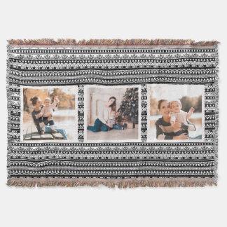 Rustikaler Chic-Schwarzweiss-Foto-Collagen-Decke Decke