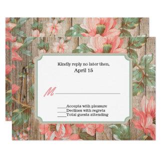 Rustikaler Frühling blüht Hochzeit UAWG Karte 8,9 X 12,7 Cm Einladungskarte