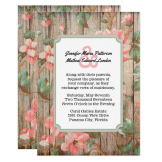 Rustikaler Frühling blüht Hochzeits-Einladung 12,7 X 17,8 Cm Einladungskarte