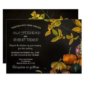 Rustikaler Herbst verlässt Karte