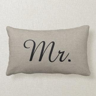 Rustikaler Herr und Frau Cute Wedding Keepsake Kissen