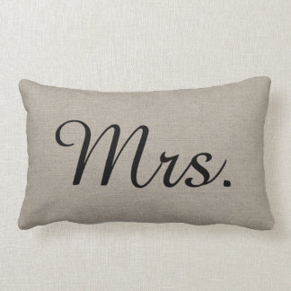 Rustikaler Herr und Frau Cute Wedding Keepsake Lendenkissen