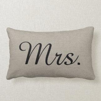 Rustikaler Herr und Frau Cute Wedding Keepsake Zierkissen