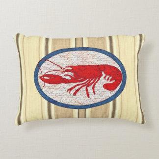 Rustikaler Hummer-Vintages rotes weißes blaues See Deko Kissen