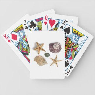 rustikaler Küstenstrand schicke Seashell Starfish Bicycle Spielkarten