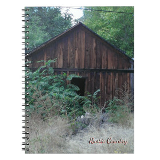 Rustikaler Land-Entwurfs-gewundenes Notizbuch Notizblock