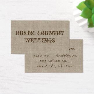 Rustikaler Land-Hochzeits-Planer Visitenkarte