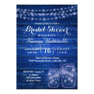 Rustikaler Maurer-Glas-Abends-Wedding Brautparty Karte