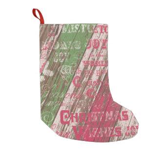 rustikaler Strumpf des Weihnachtswinterfeiertags Kleiner Weihnachtsstrumpf