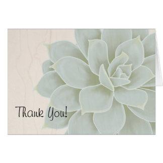 Rustikaler Succulent danken Ihnen zu kardieren Karte
