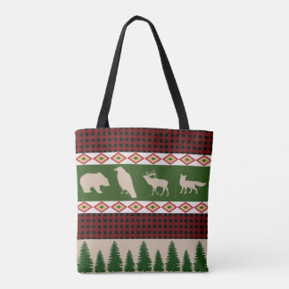 Rustikaler Waldweihnachtsfeiertag Tasche