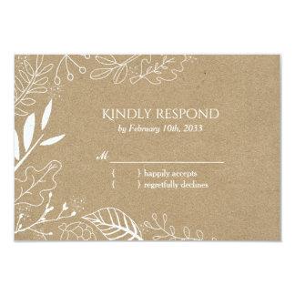 Rustikales botanisches Hinterhof-Hochzeit UAWG 8,9 X 12,7 Cm Einladungskarte