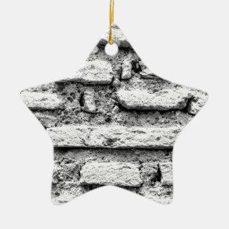 Rustikales brickwall keramik Stern-Ornament