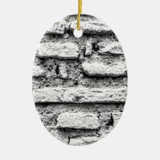 Rustikales brickwall ovales keramik ornament