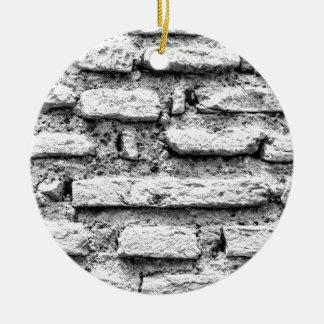 Rustikales brickwall rundes keramik ornament