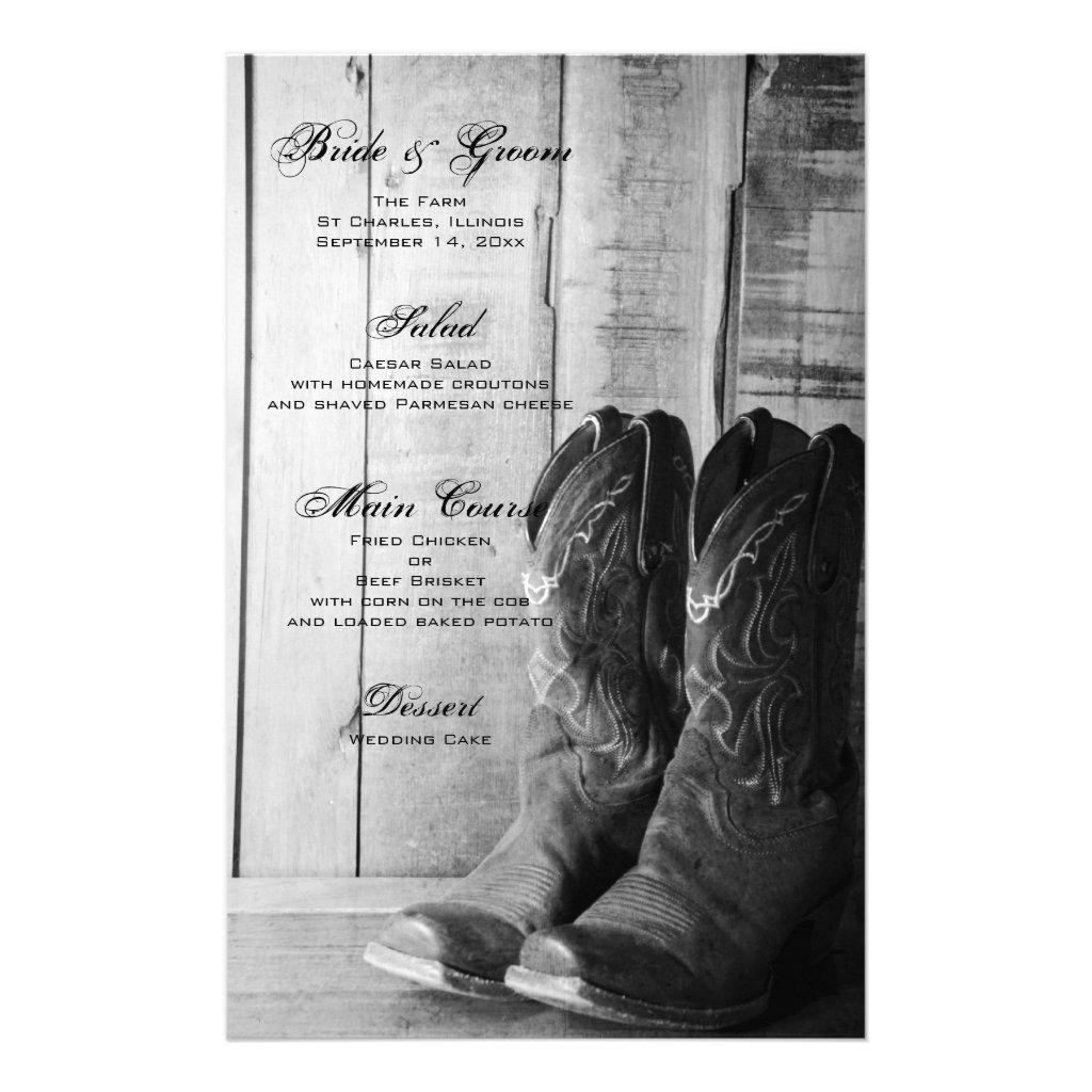 Hochzeits-Cowboystiefel — Cuadros