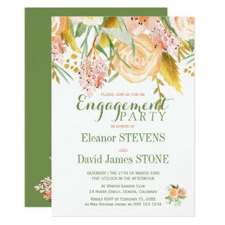 Rustikales Frühlings-Verlobungs-mit BlumenParty Karte
