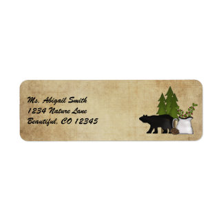 Rustikales Gebirgsland-Bärn-Adressen-Etikett