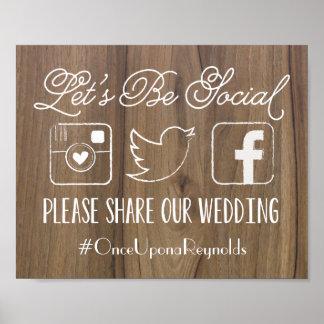 Rustikales gelassen uns ist Sozial| Wedding Poster