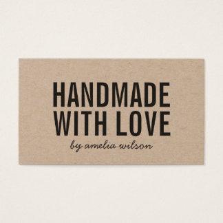 Rustikales handgemachtes mit Liebe-Sozialmedien Visitenkarte