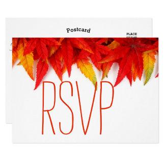 Rustikales Herbst-Blätter-Fall-Hochzeit UAWG 8,9 X 12,7 Cm Einladungskarte