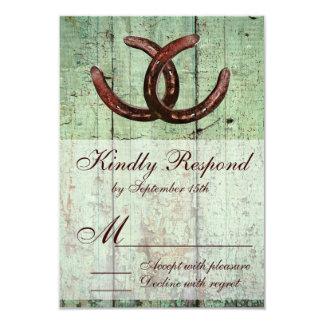 Rustikales Hufeisen-Land-Art-Hochzeit UAWG 8,9 X 12,7 Cm Einladungskarte