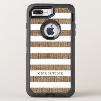 Rustikales Land Striped OtterBox Defender iPhone 8 Plus/7 Plus Hülle