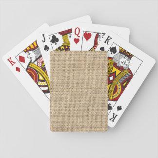 Rustikales Land-Vintage Leinwand Spielkarten