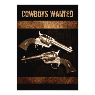 Rustikales ledernes outlawcountry 12,7 x 17,8 cm einladungskarte