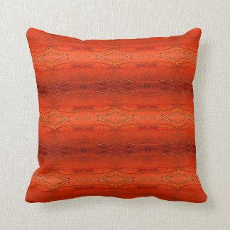 Rustikales orange aztekisches Muster-Kissen Kissen