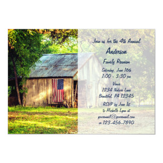 Rustikales Scheunen-amerikanische 12,7 X 17,8 Cm Einladungskarte