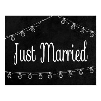 Rustikales Schwarz-gerade verheiratetes Postkarte