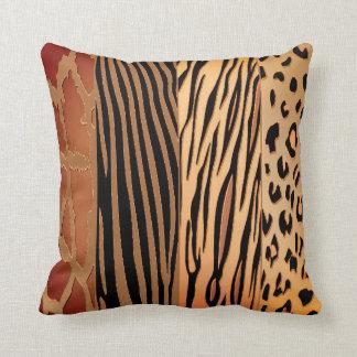 Rustikales Tier Druckzebra-Streifen-Kissen Kissen