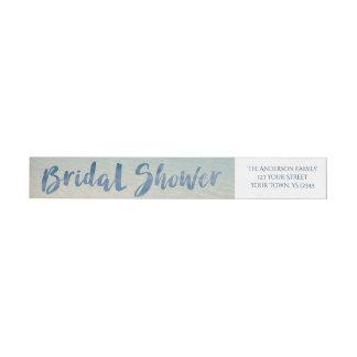 Rustikales tropisches Strand-Brautparty Absender Adressband