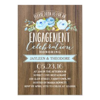 Rustikales Verlobungs-Party der Verlobungs-| 12,7 X 17,8 Cm Einladungskarte