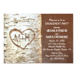 Rustikales Verlobungs-Party des 12,7 X 17,8 Cm Einladungskarte
