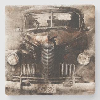 Rustikales Vintages Auto Steinuntersetzer