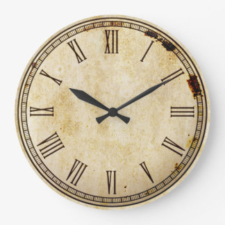 Rustikales Vintages römische Ziffern-Uhr-Gesicht Uhr