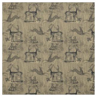 Rustikales Vintages Rotwild-Muster Stoff