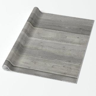 Rustikales weißes Holz Geschenkpapier
