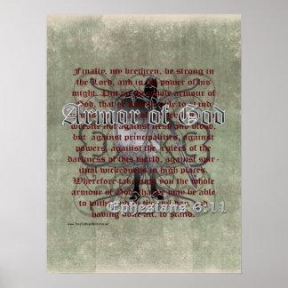 Rüstung des Gottes, Ephesians 6:10 - 18, Poster