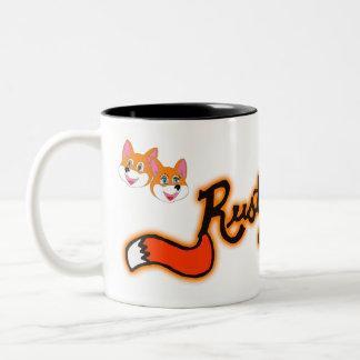 Rustyfoxes 2-Ton 11 Unze. Kaffee-Tasse Zweifarbige Tasse