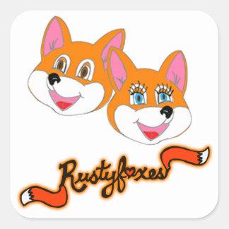 """Rustyfoxes """"kundengerechte"""" Aufkleber"""