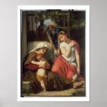 Ruth et Naomi, 1859 (huile sur la toile) Posters