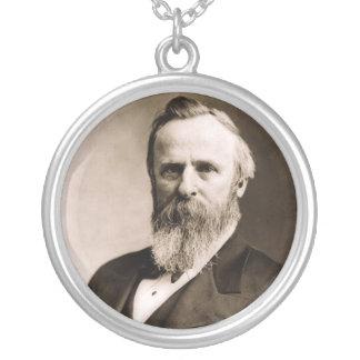 Rutherford- B. Hayes19. Präsident Versilberte Kette